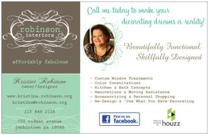 Kristine Robinson's contact info and services.