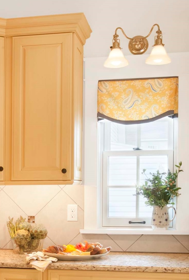 Yellow and Blue Valance