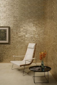 Wallpaper by Maya Romanoff in Mother of Pearl.