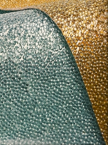 Flexible Glass Bead wallcovering from Maya Romanoff.