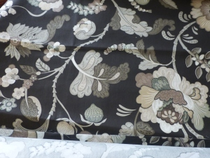 Fabric we found for the Living Room Valances.