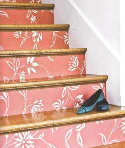 Wallpaper on Stair Risers