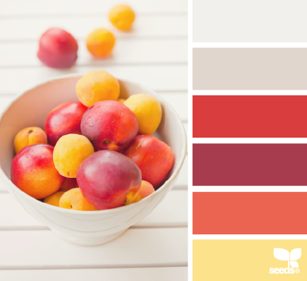 A color inspiration photo from Design Seeds.  Don't you love the fresh happy feel of this palette?  It's like a beautiful summer sunset!