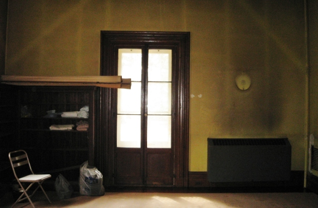 In this 2008 BCDH room, the Victorian house had been un-occupied for several years. It required that I do a lot of expensive improvements (to walls, floors, woodwork, etc.) before the fun part of decorating could begin.