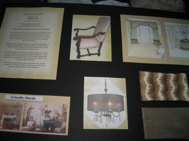 A design board for one of my past Designer House rooms, which was submitted and selected for the 2011 BCDH.