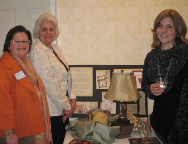 My workroom and decorative painter and I at the 2011 BCDH Empty House Party.