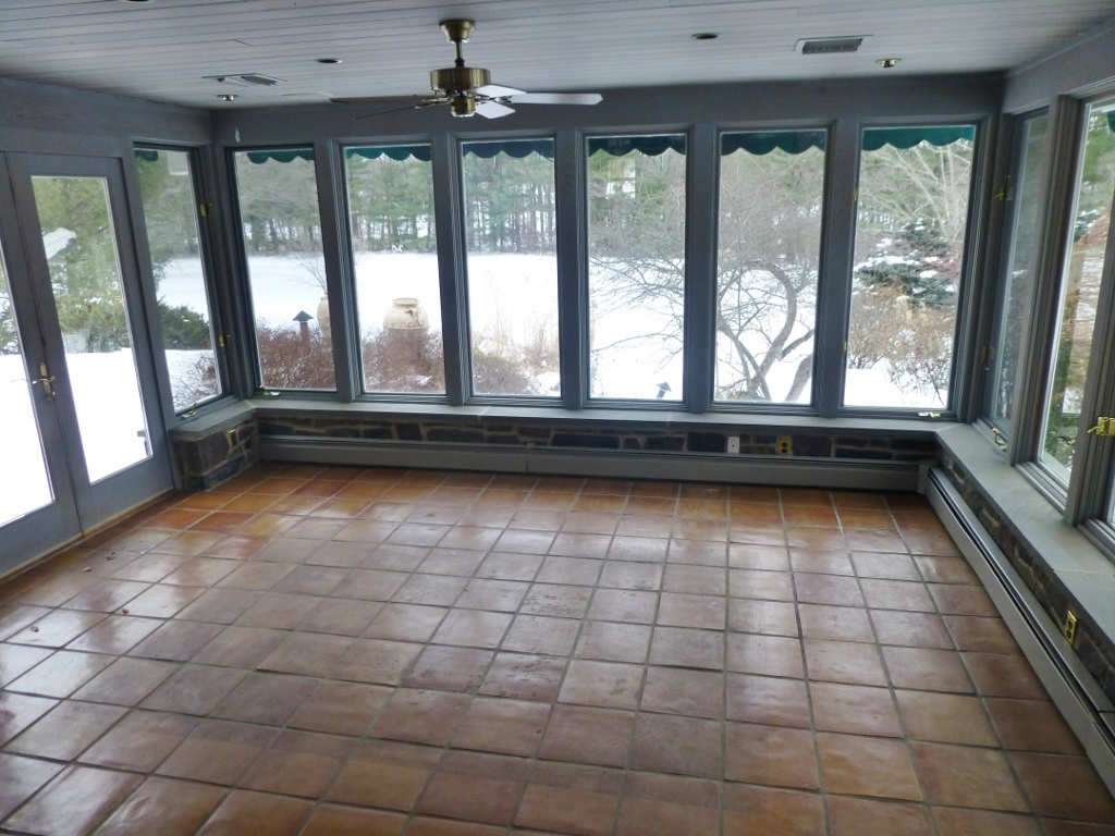 Bucks county designer house sunroom window treatments for Window covering ideas for sunrooms