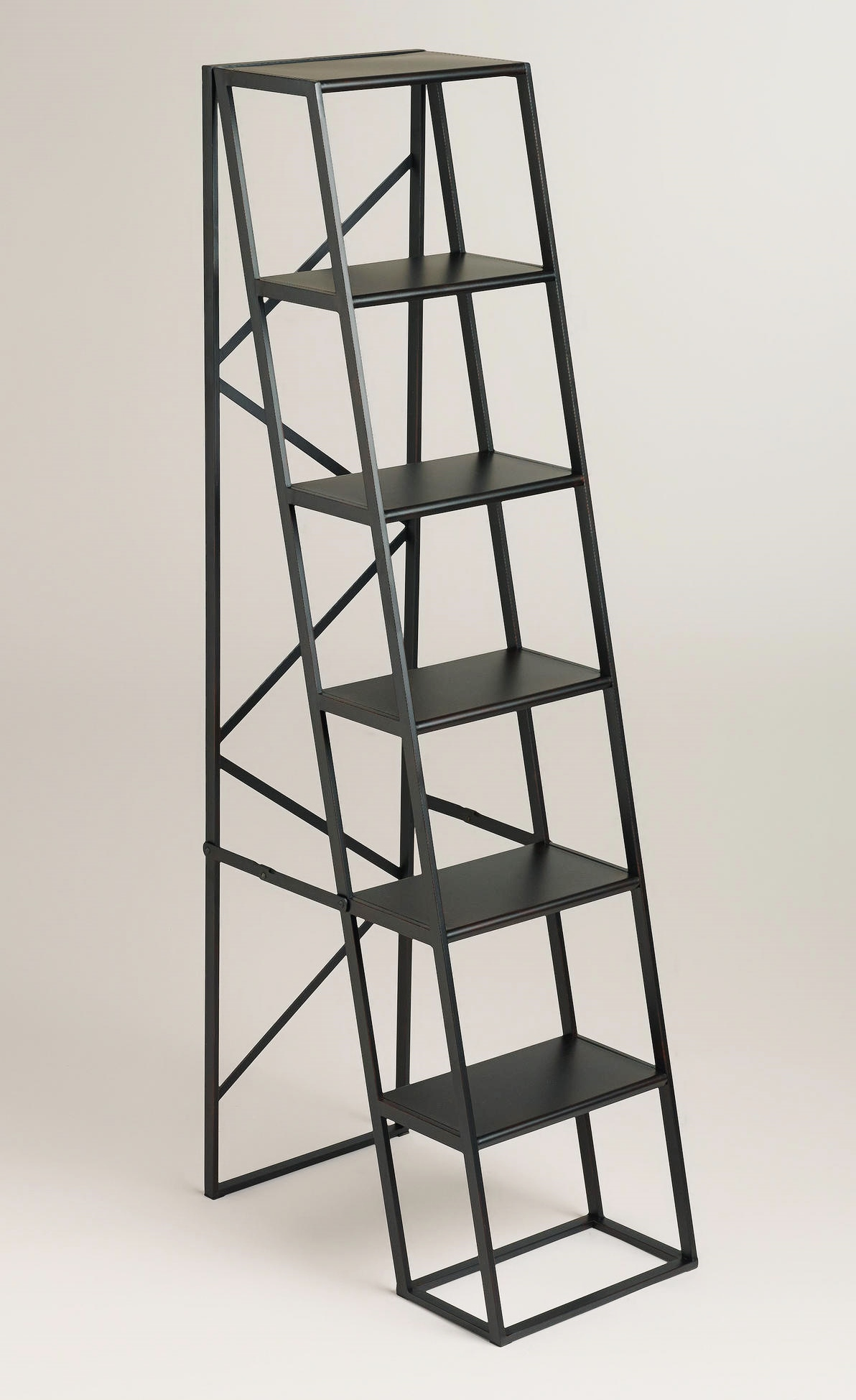 A Terrific Black Metal Display Ladder Will Display Plants And Vintage  Accessories In My Designer House