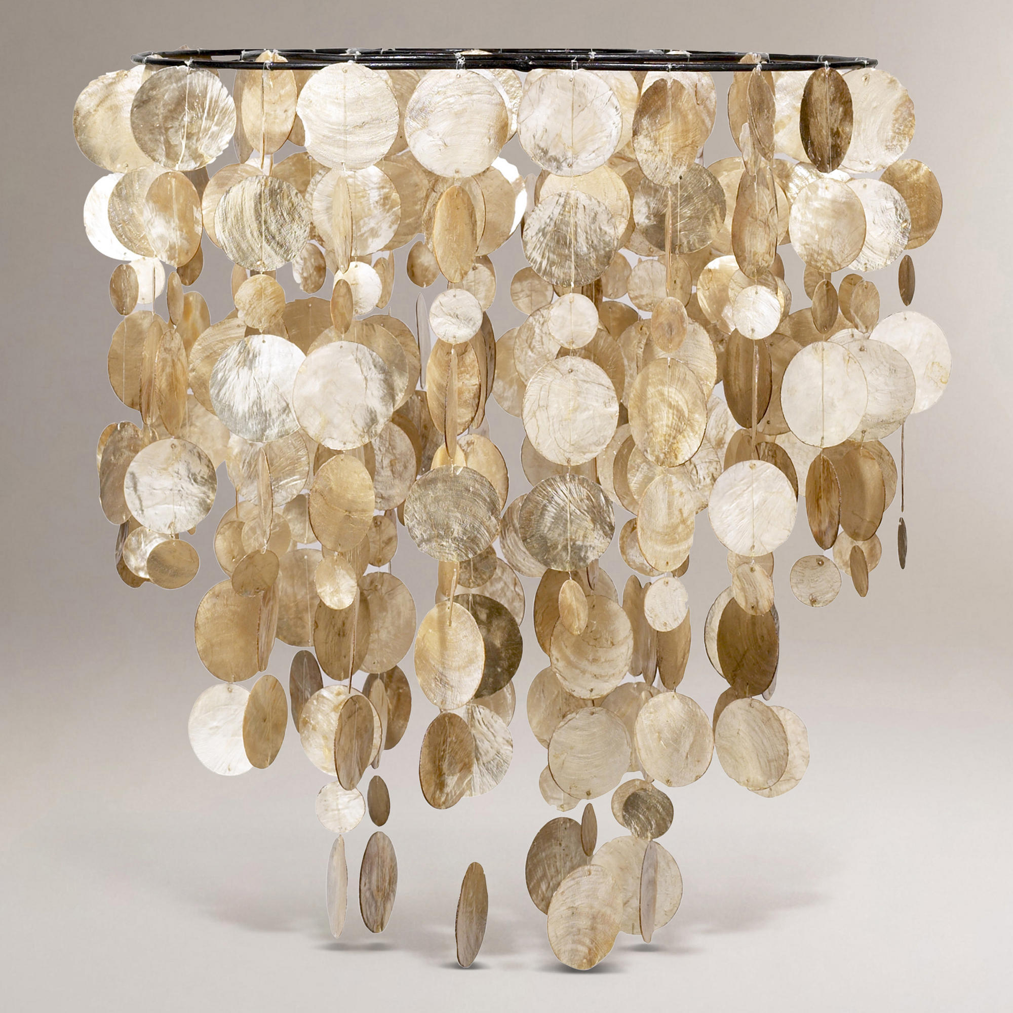 cascading capiz shell light fixture will be front and center in my. Black Bedroom Furniture Sets. Home Design Ideas