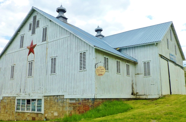 This amazing barn is found at the entrance to Spring Meadow Farm.