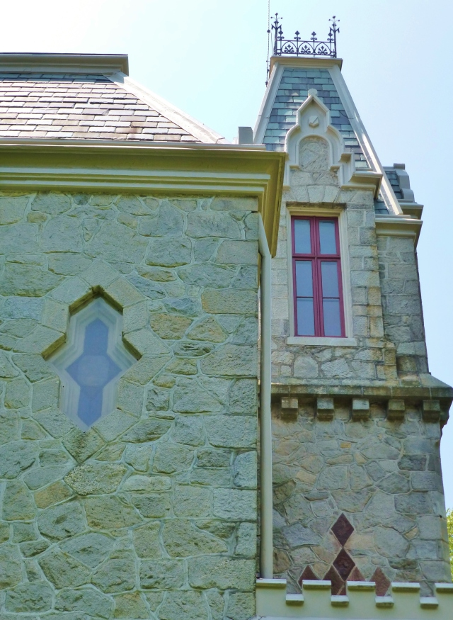 I particularly admire the variety of interesting window shapes and architectural features on the Ebenezer Maxwell Mansion.