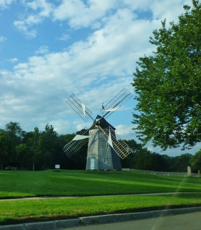 Driving through the little hamlets and towns affords quaint views of the local scenery in the Hamptons.  This Windmill is one of several along the main drag.