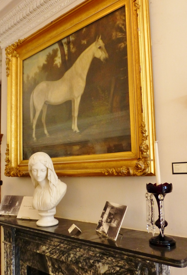 "The Ryerss family also kept horses on the property.  The horse in this portrait is ""Old Grey""."