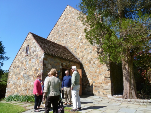 Members of Steeplechasers Questers visiting an historic site on a beautiful day.