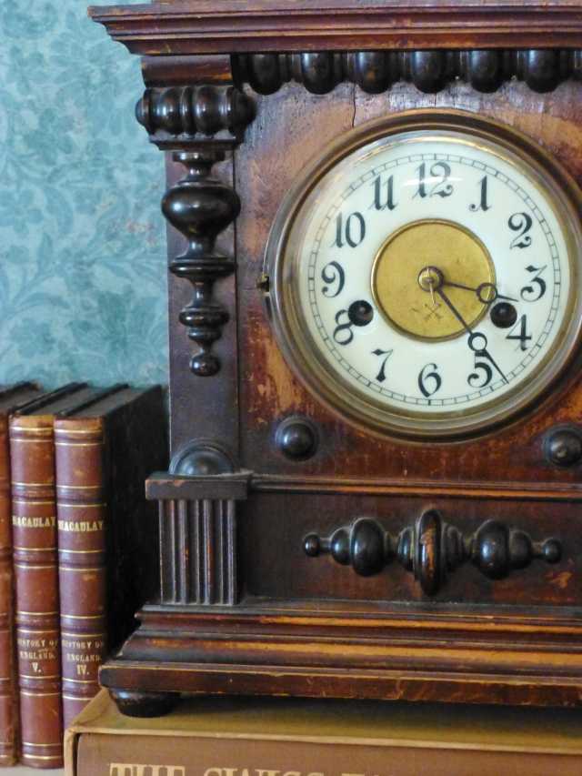 An antique German clock was a gift to my husband for one of our wedding anniversaries many years ago.
