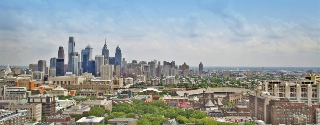 The beautiful skyline of Philadelphia, PA.