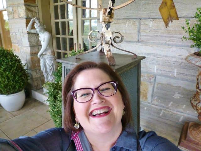 Here I am on Barry Dixon's back portico, expressing my utmost joy at visiting his remarkable home.  I was giddy with delight!