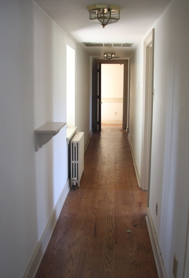 My room at the 2016 Bucks County Designer House is at the end of this long hallway, which will act as an art gallery.