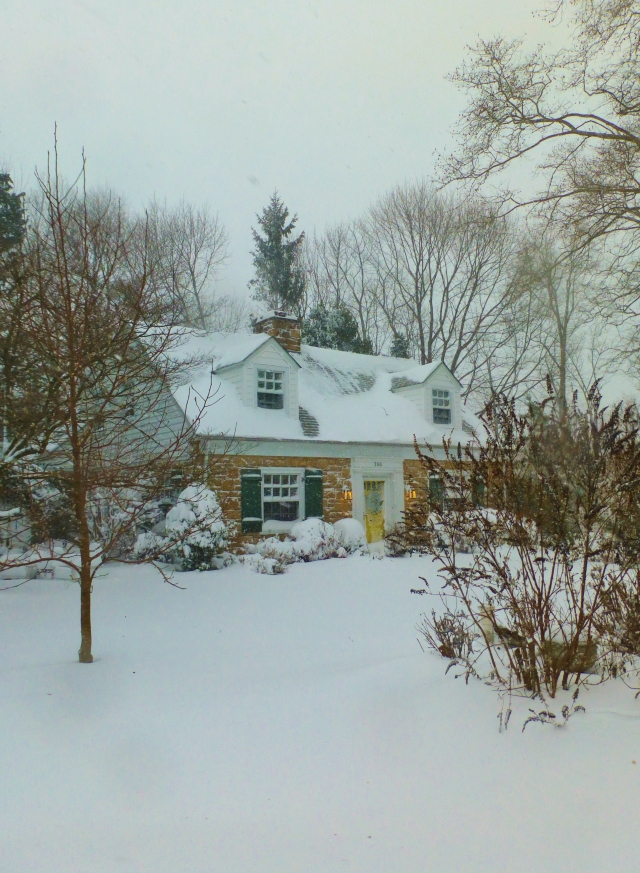 My house, Sycamore Cottage, in the blizzard of 2016.