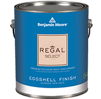 I've selected Regal Select waterborne paint in the Eggshell finish by Benjamin Moore for my 2016 Bucks County Designer House bedroom. This paint has many features: •Regal Select Features Paint and Primer Together •Easy Application •Highly Washable •Zero VOC*, Low Odor •Excellent Hide •Popular and versatile eggshell finish •Provides a Mildew Resistant Coating
