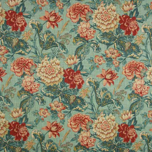 This gorgeous floral from Stout Textiles has all the colors I'll be using in my Bucks County Designer House bedroom. While only used on accent pillows, it's the glue that ties the whole room together!