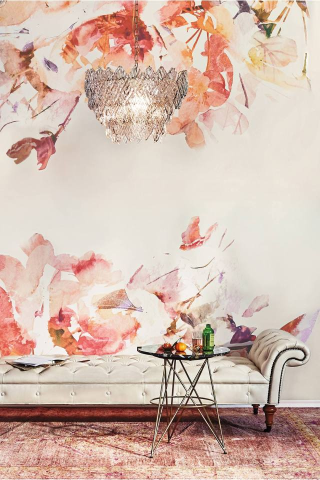 And, of course, this Anthropologie 'Rosella' Mural is absolutely stunning too. Clicking on this photo will take you to the Anthropologie website and their page of beautiful wall murals. I love the styling of their home décor line, don't you?