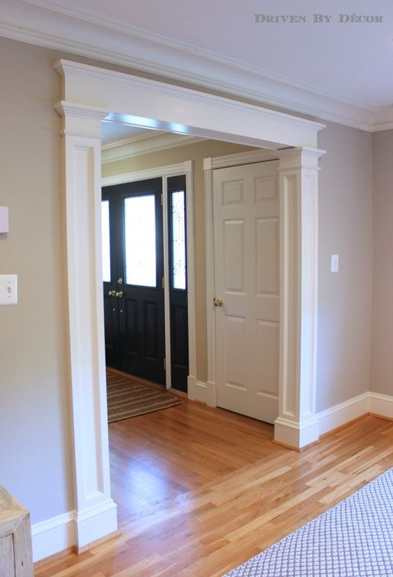 Pinterest Image of trim casing doorway