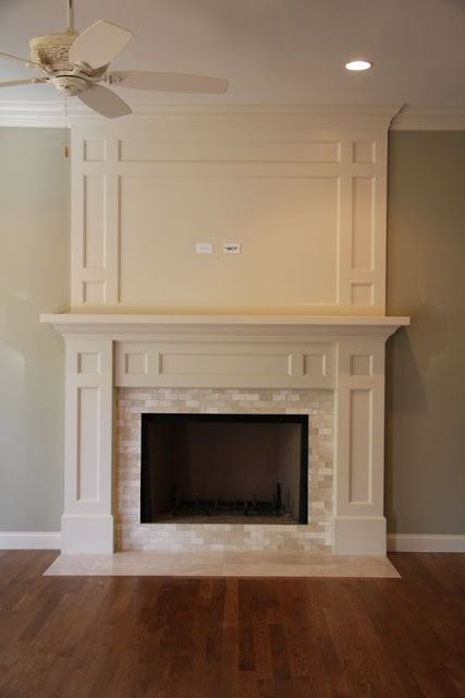 a-white-mantel