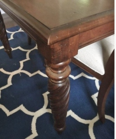 A detail of the carved legs on the Estate Sale listing.