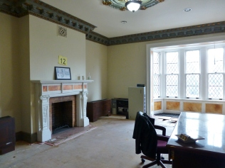 The second floor features many large bedrooms. This one is to be transformed into a nursery for twins!