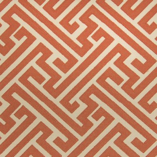 This lovely Greek Key patterned fabric in Orange is by Greenhouse Fabrics. I love the vibrant orange color and the modern feel of the geometric pattern. Plus, Greek Key is a timeless classic motif that works well in both modern and traditional interiors. I'm planning to use this fabric on a cornice board and bolster pillow for the bed in Grady's Teen Boy Bedroom at The Shack.