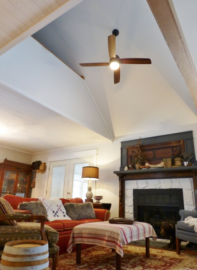 Ceiling Fan at The Shack above the Living Area