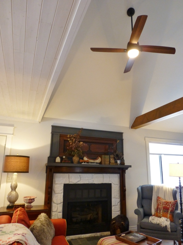 Ceiling Fan with light at The Shack