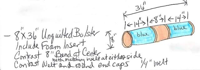 Grady's Bolster Specs for Teen Boy's Bedroom at The Shack