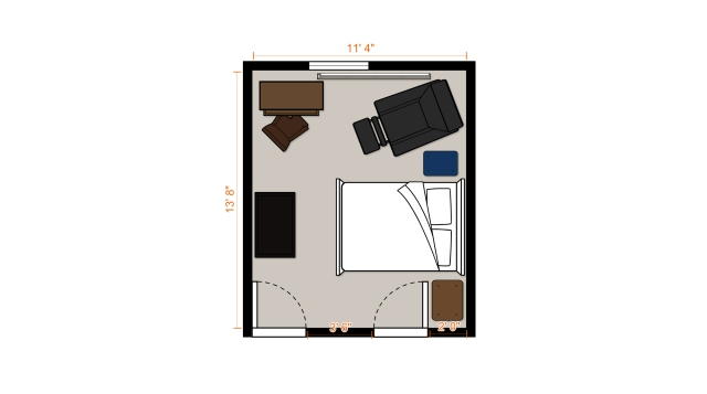 Grady's Floor Plan Furnished