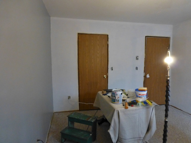 The Shack Upstairs Bedroom Priming Walls