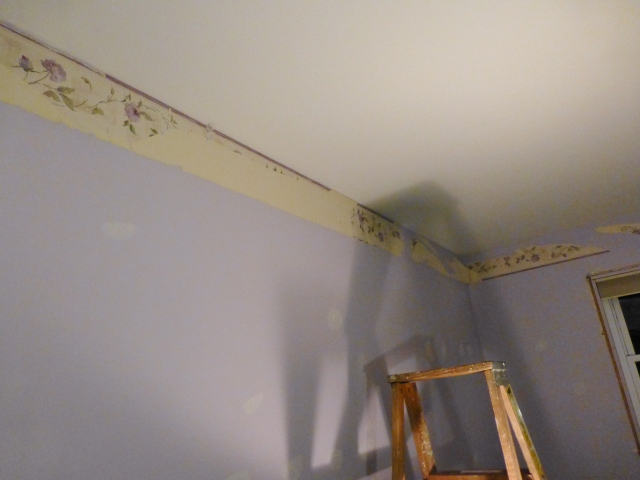 The Shack Upstairs Bedroom Removing Wallpaper Border