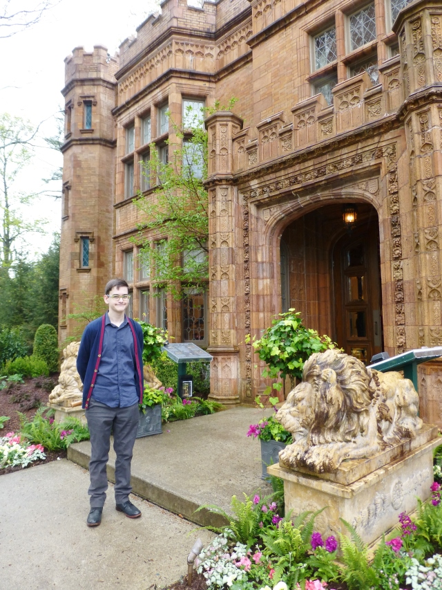 1 Grady at the entrance to Alnwick Hall the 2017 Mansion in May