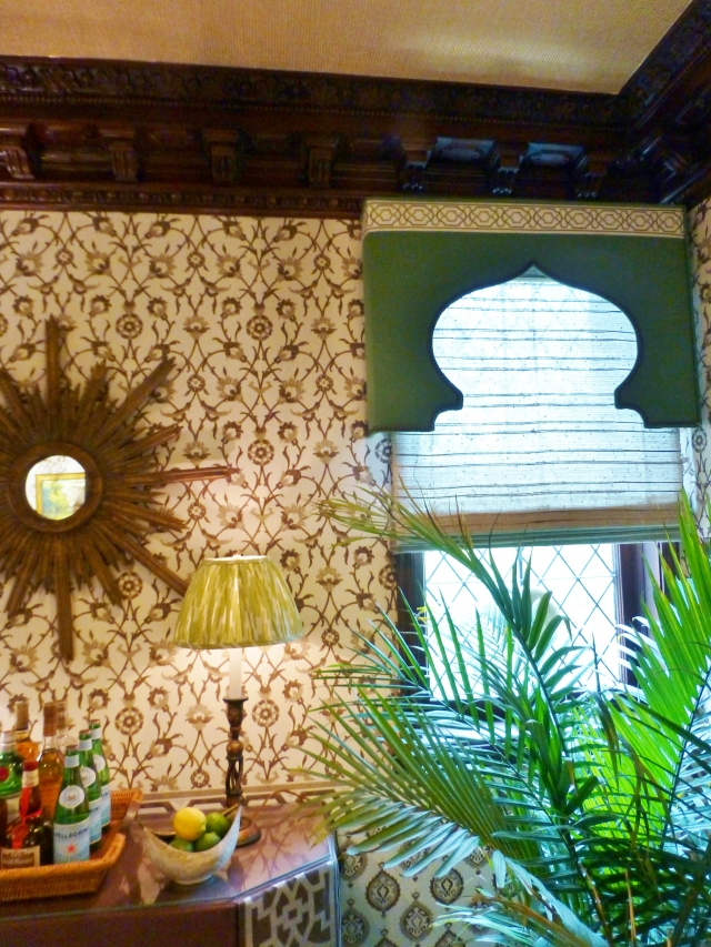 Gentlemans Retreat at 2017 Mansion in May Lambrequins post by Kristine Robinson's Interiors Blog
