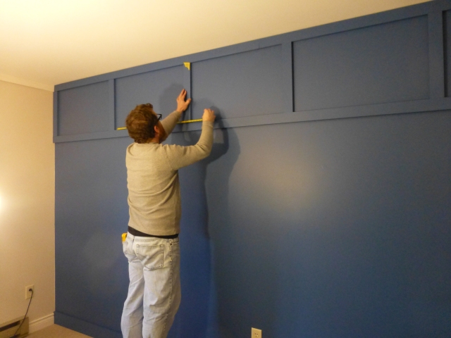 Installing Board and Batten Accent Wall at The Shack Measurements