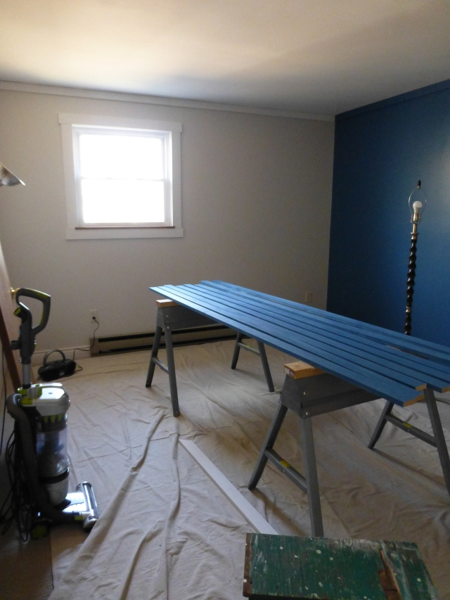 Painting the Walls and Installing Trim Teen Boys Bedroom at The Shack