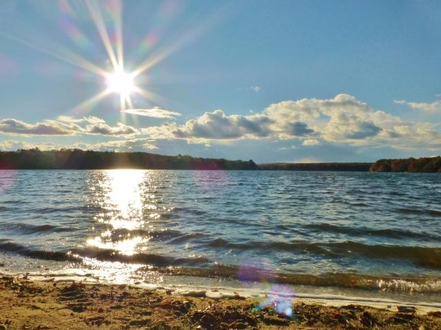 Bear Creek Lake Jim Thorpe PA Southern Poconos Sunshine Fall Kristine Robinsons Interiors
