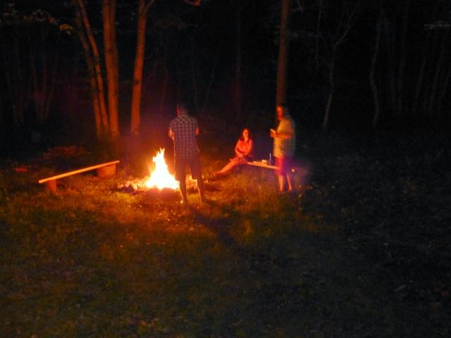 Fire Pit at The Shack Southern Poconos Jim Thorpe PA Kristine Robinsons Interiors (2)