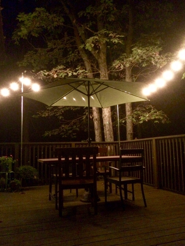 Nighttime fun at The Shack Southern Poconos Jim Thorpe PA Deck Porch Kristine Robinsons Interiors (2)