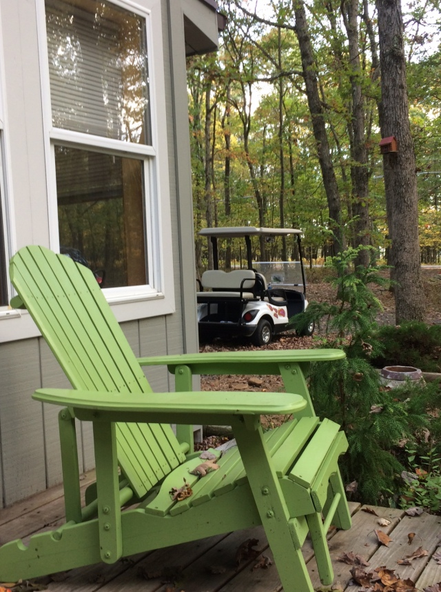 The Shack Southern Poconos Ready for a golf cart ride Front Porch Kristine Robinsons Interiors