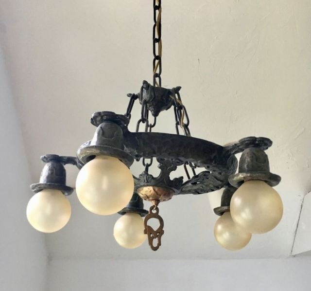 Sunroom at The Shack Chandelier Antique 1